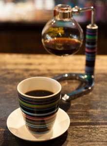 自家焙煎の豆を使ったコーヒー
