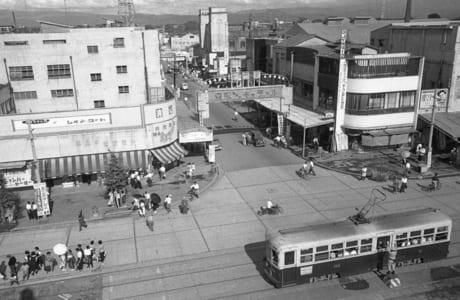 昭和30年ごろの新市街入り口