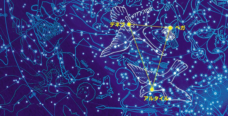 夏の空にはこんな星座が見られる 夏の大三角形