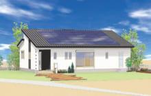 画像:ママの家事室と6種類の便利収納がある平屋住宅