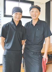 店長 大村直樹さん(右)、統括マネージャー 永目賢二さん