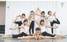 画像:楽しく体を動かす「新体操」