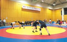 画像:全日本女子レスリング 熊本合宿公開練習