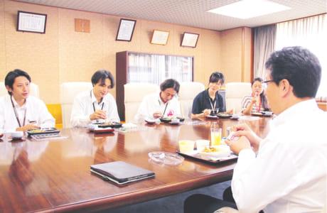 地域担当職員とのランチタイムミーティング