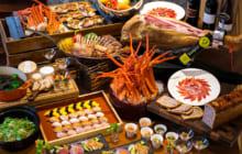 画像:蟹(カニ)やハモンイベリコの生ハムが食べ放題!