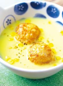 たこ焼きコーンスープ