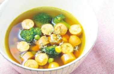 爽やかな辛さが目覚めに効く カレースープ