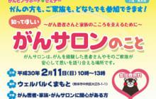 画像:2/11(日)、「知ってほしい がんサロンのこと」(主催/熊本県)