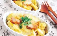 画像:おうちでCOOK – とろ~り、ホクホクのおいしさ! サトイモのカレーグラタン