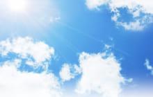 画像:7 見上げる青空