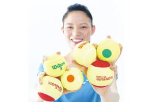 国際テニス連盟推奨の大きめのボールだから簡単