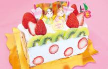 画像:ひな祭りのケーキを囲んでお祝いを