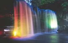画像:鍋ヶ滝ライトアップ