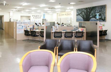 明るい雰囲気のローンセンター内部(写真はくまもとローンセンター)