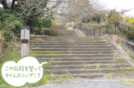 案内板を発見! 官軍墓地、薩軍砲座の跡を通って花岡山山頂へ