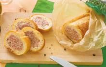 画像:美味しいレシピ vol.210 – スタッフドバゲット ~ポテトとコンビーフ~