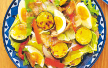画像:美味しいレシピ vol.216 – 豚ソテーのパワーサラダ