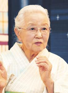 本番の舞台の能衣裳を手掛ける染織作家・志村ふくみさん