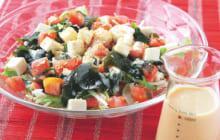 画像:おうちでCOOK – 無限に食べられそう! 豆腐ドレッシングのワカトマサラダ