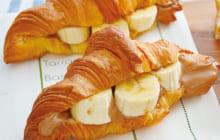 画像:美味しいレシピ vol.215 – クロワッサンのバナナサンド