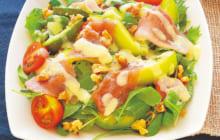 画像:美味しいレシピ vol.217 – アボカドとキウイの生ハムサラダ