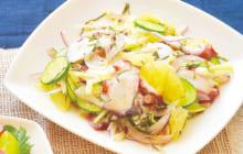画像:美味しいレシピ vol.217 – タコとグレープフルーツのサラダ