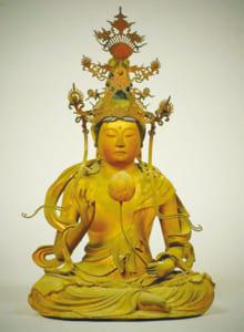 妙雲山福寿寺の「聖観音菩薩坐像」(高さ38.7cm)江戸時代