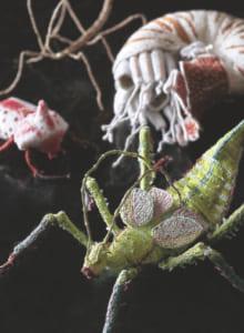 手作業による作品の制作期間は、3週間から5カ月ほど。これから作ってみたいのは「海虫(うみむし/水生昆虫)」だそう