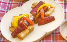 画像:美味しいレシピ vol.220 – さつま芋と豚バラのオイスターソース炒め