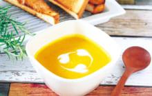 画像:おうちでCOOK – ピーナツバターでコクをプラス カボチャのポタージュ