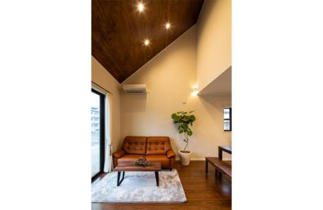 熊本市東区山ノ神にある同社モデルハウスのリビング