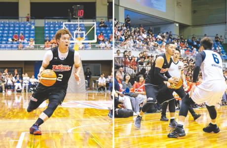 共同キャプテンとして今季のチームをけん引する古野拓巳選手(左)と小林慎太郎選手
