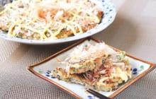 画像:おうちでCOOK – たっぷりのナスでふわふわの食感に ナスのお好み焼き