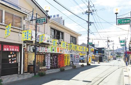 昔ながらの風情を残す新町・新鳥町商店街