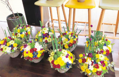 季節の花を楽しむワークショップも。その他、食に関係がなくてもOKです