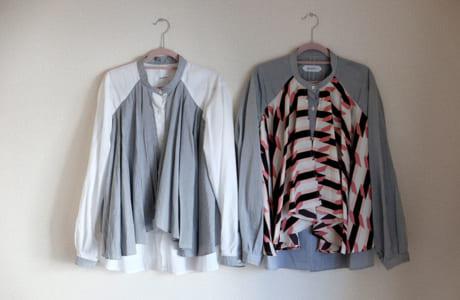 阿蘇の地から世界に発信するシャツという意味を込め「gogaku」と名付けられたシリーズ。 授乳スリット付きシャツ1万7280円〜