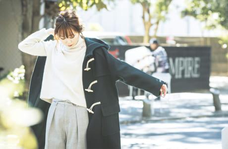 item/コート3万8000円、ニット1万2000円、ボトムス1万1000円(全てURBAN RESEARCH COCOSA熊本) model/mizuki matsushita(同店)