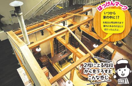 昭和初期の木造家屋を再現。当時の生活が「茶の間」の中で再現されています。