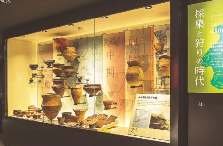 遺跡から発掘された縄文時代の土器。熊本の歴史の長さを感じます。