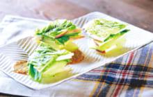 画像:シャキシャキ食感が楽しい 白菜とりんごのミルフィーユ仕立て