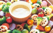 画像:旬の野菜を色とりどりに 豆乳バーニャカウダ