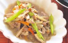 画像:美味しいレシピ vol.228 – 切り野菜と豚肉のあん寄せ