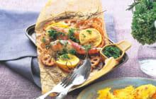 画像:美味しいレシピ vol.227 – 白身魚のオーブン焼き~グレモラータ~