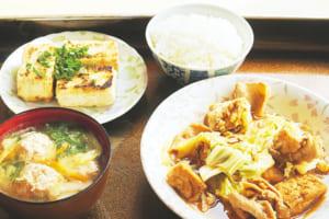 今日の献立は、和風回鍋肉と鶏団子スープ