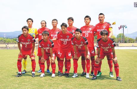 熊本県代表決定戦では、GK内山圭選手(後列左端)が公式戦初先発