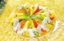 画像:美味しいレシピ 特別編 – キウイとすもものサラダ