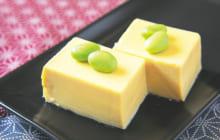 画像:枝豆のせ玉子豆腐