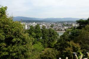 人吉城からの眺望(写真は1年前に撮影)