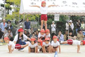 運動会では組み体操に挑戦