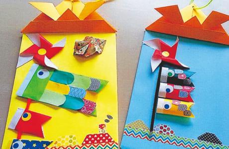 外に出られない子どもたちに季節を感じてほしいと、時季に合った壁面飾りやプレゼントを手作り